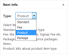 adding a some description about product item type which will be displayed under item info metabox in addedit item form in backend